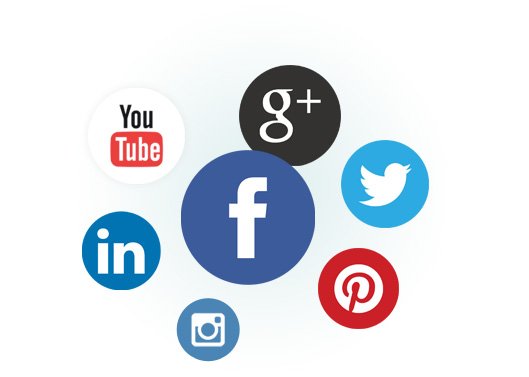 Selection of social icons including Facebook, Twitter, Google Plus, You Tube and Linked In.